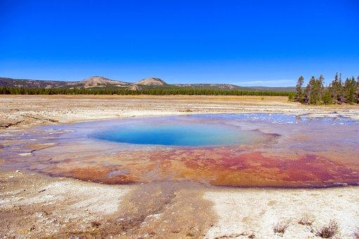 Yellowstone's Opal Pool, Thermal, Yellowstone, National