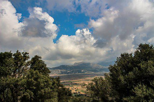 Landscape, Nature, Clouds, Trees