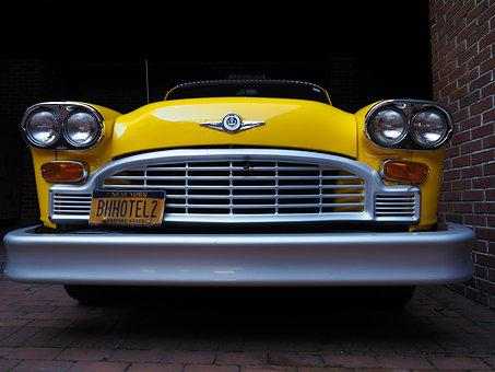 New York, Brooklyn, Taxi, Vintage Car, Vintage Taxi