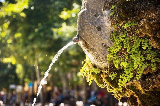 Water Fountain, Water Spout, Public Fountain