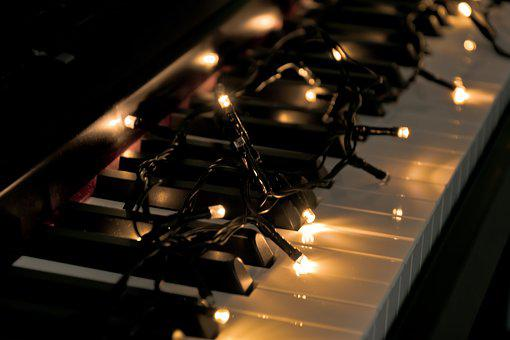Piano, Light, Music, Sound, Vintage, Instrument, Winter
