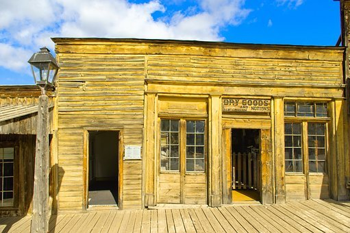 Old Virginia City Storefront, Ghost Town, Abandoned