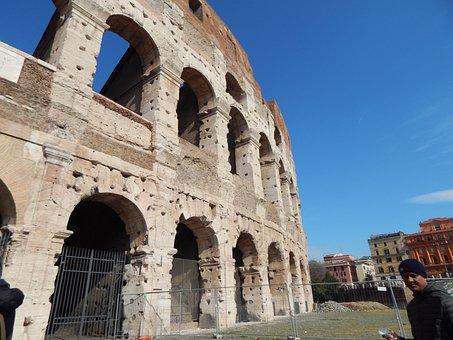 Rome, Colloseum, Italy, Colosseum, Architecture, Old