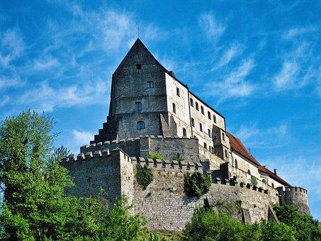 Castle, Burghausen, Upper Bavaria, Bavaria, Salzach