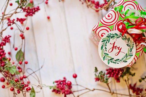 Christmas, Frame, Border, Text Space, Joy, Gift