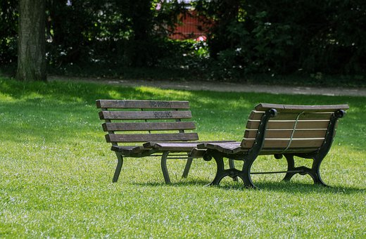 Park Bench, Meadow, Nature, Bank, Break, Bench, Seat
