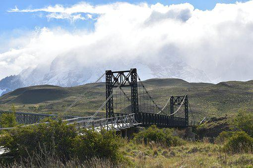 Patagonia, Torres Del Paine, National Park, Bridge