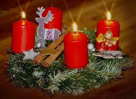 Third Advent, Advent Wreath, Advent, Candles