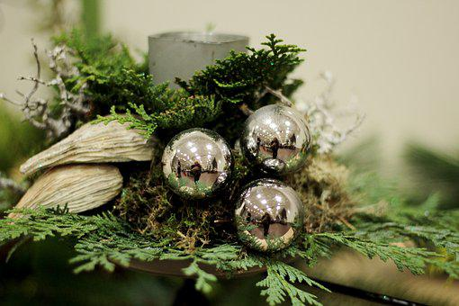 Christmas, Christmas Bauble, Decoration, Moss, Green