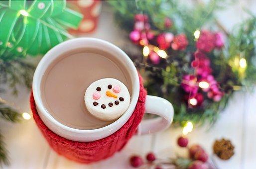 Hot Chocolate, Cocoa, Marshmallow, Snowman, Christmas