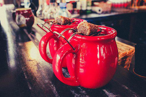 Mugs, Drink, Cup, Hot, Tea, Mulled Wine, Christmas