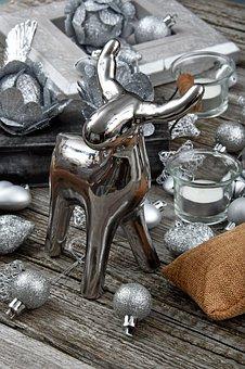 Christmas, Christmas Ornament, Silver