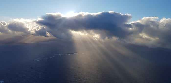 Cloud, Sky, Ocean, Sun, Piloteyes