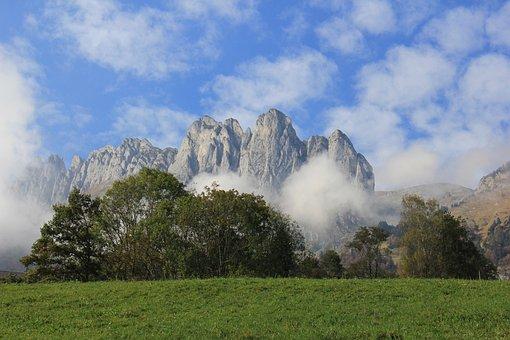 Rock, Mountain, Landscape, Sky, Clouds