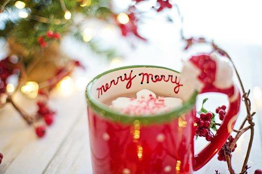 Christmas, Hot Chocolate, Cocoa, Merry, Drink, Hot, Mug