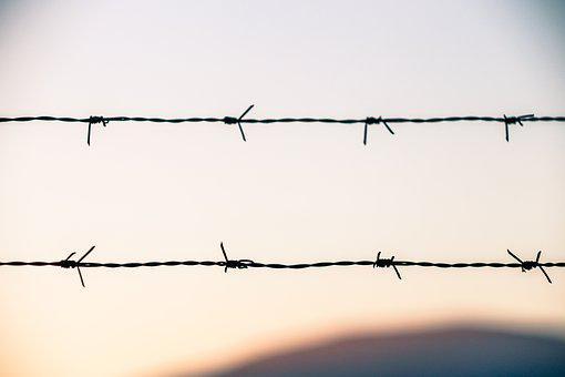 Pattern, Warning, Fence, Freedom, Background, Details