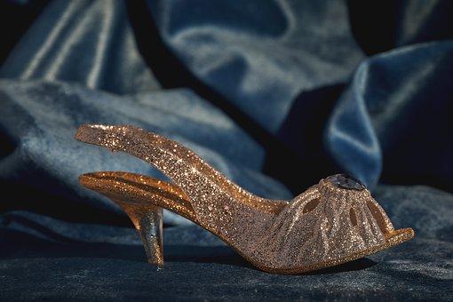 Shoe, Glitter, Women's Shoes, Elegant, Hack Shoe, Deco