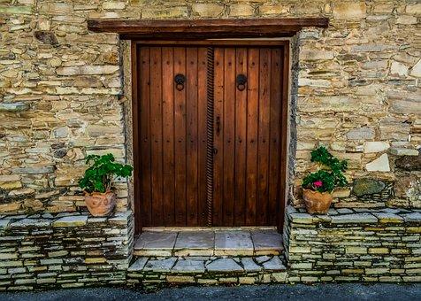 Door, House, Facade, Building, Architecture