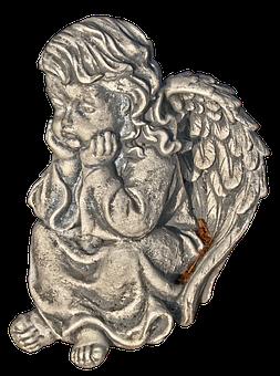 Figure, Angel, Cherub, Wing, Female, Thoughtful