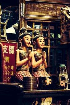 China, Figurines, Statue, Sculpture, Cute, Figure