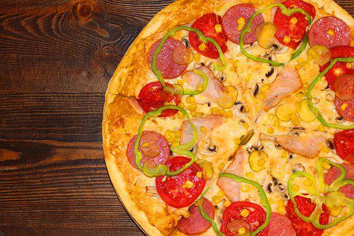 Pizza, Table, Food