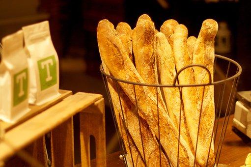 Baguette, Muffin, Bakery, Bread, Fragrant, Baking, Shop