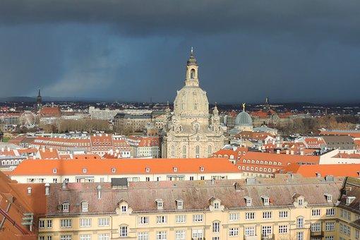 Dresden, Frauenkirche, Saxony, Building, Steeple