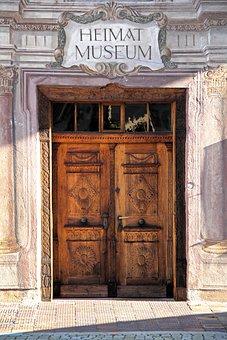 Door, Front Door, House Entrance, Input, Old, Gate
