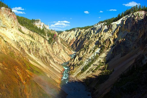 Grand Canyon Of The Yellowstone, Brink Of Falls View