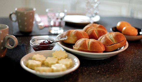 Breakfast, Have Breakfast, Roll, Breakfast Table