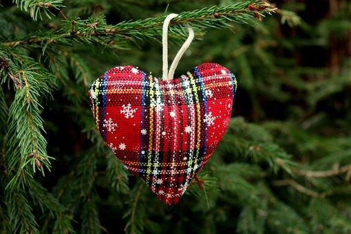 Heart, Tree, Christmas Tree, Decoration, Holiday