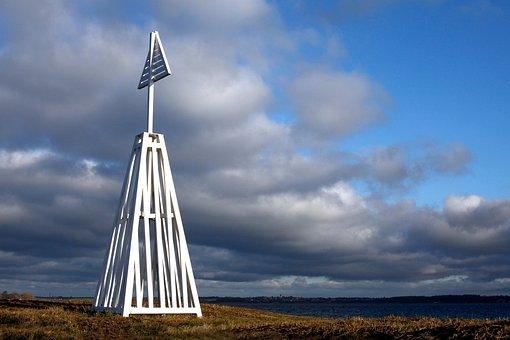 Daymark, Sky, Landscape, Baltic Sea, Holnis, Water