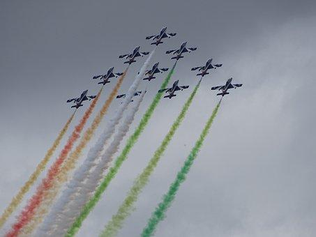 Ostrava, Nato Days, Aircraft, Air Show, Italian, Smoke
