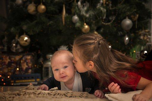 New Year's Eve, Christmas Tree, Kids, Holiday