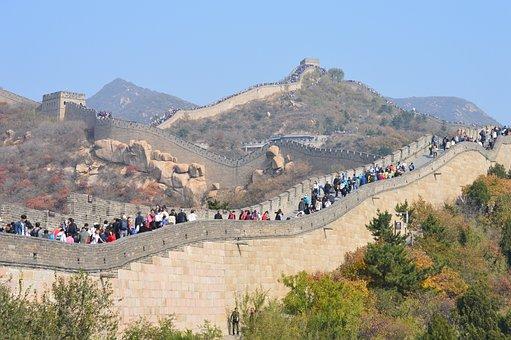 Great Wall, China, Beijing, Wall, Landmark, Building