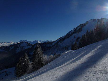 Mountain, Landscape, Sky, View, Snow