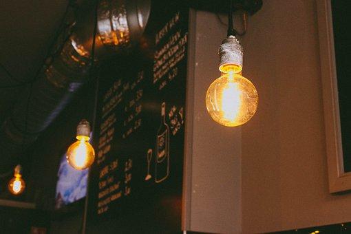 Interior, Lighting, Bulb, Menu, Restaurant, Industrial