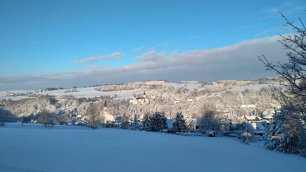 Neuhausen, Ore Mountains, Winter, Vacations