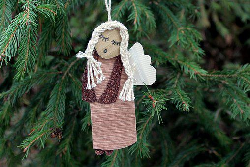 Angel, From The Paper, Ornament, Decoration, Tree