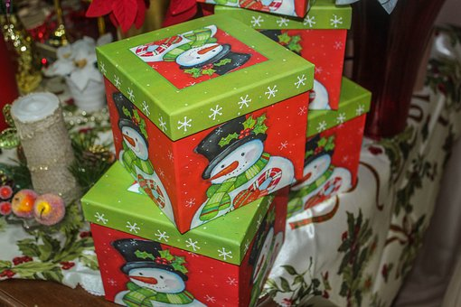 Card, Present, Christmas, Decoration, Gifts
