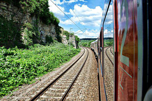 Train, On The Go, Railway, Travel, Zugfahrt, Locomotive