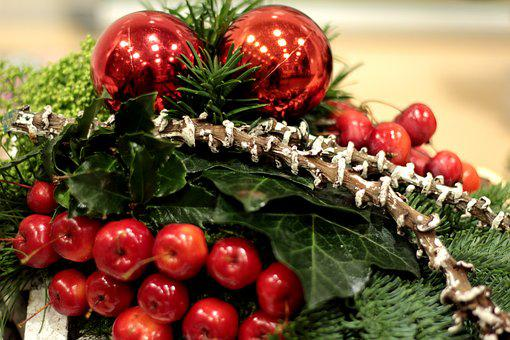Christmas, Ball, Vote, Deco, Apples, Red, Green