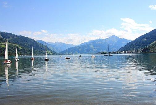 Lake, Blue, Water, Nature, Landscape, Sea, Reflection