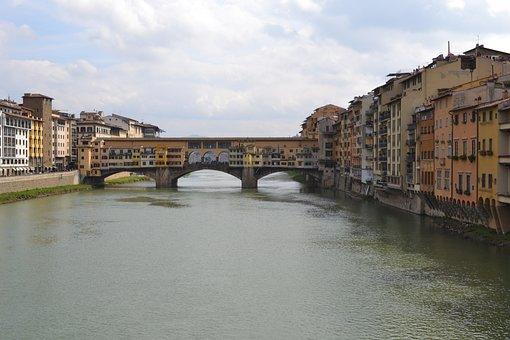 Florence, River, Arno, Italy, Tuscany, Europe