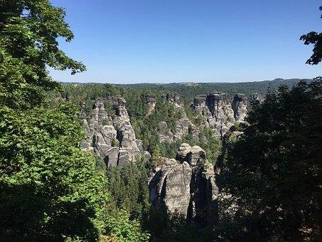 Rock, Sandstone Mountain, Elbe Sandstone Mountains