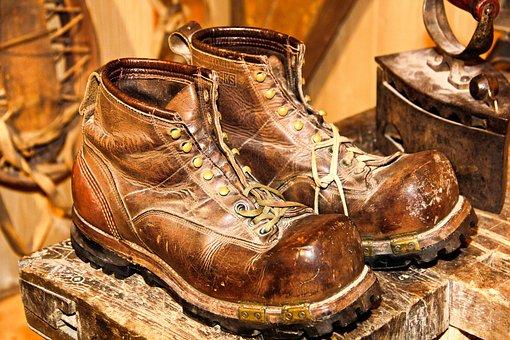 Shoes, Ski Boots, Ski Boot, Skiing, Ski, Antique