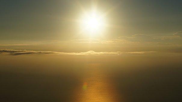 Clouds, Sea, Sky, Sunrise