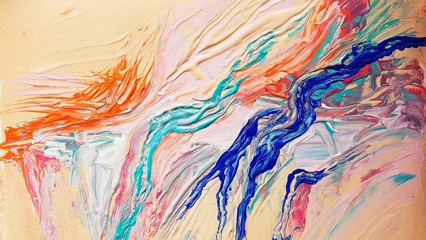 Paint, Acrylic Paints, Spatula Technique, Creative