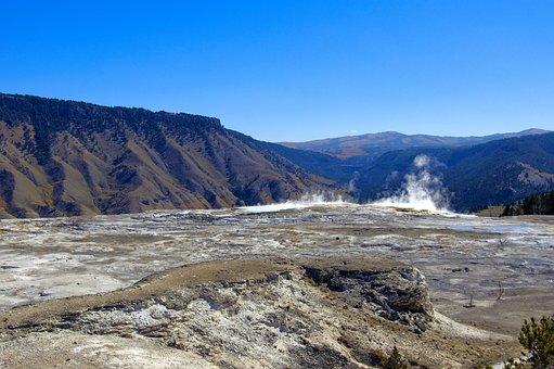 Mammoth, Hot, Springs, Yellowstone, National, Park