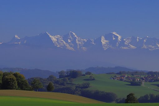 Bernese Alps, Eiger, Monk, Virgin, Switzerland